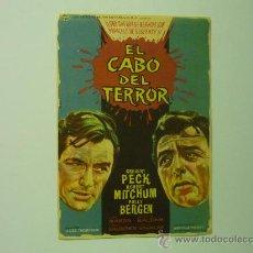 Cine: CARTEL PELICULA EL CABO DEL TERROR -GREGORY PECK. Lote 33147173