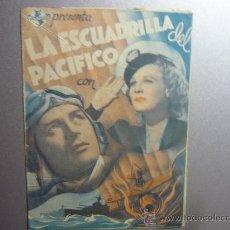Cine: PROGRAMA CINE DOBLE LA ESCUADRILLA DEL PACIFICO. Lote 33214884
