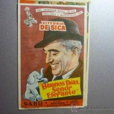Cine: PROGRAMA CINE BUENOS DIAS SEÑOR ELEFANTE -VITTORIO DE SICA. Lote 33215174