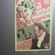 Cine: PROGRAMA CINE TIPO CARTON AL LLEGAR LA PRIMAVERA. Lote 33221065