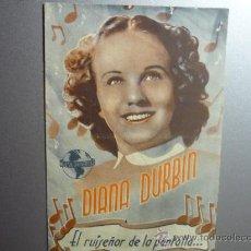 Kino - PROGRAMA CINE DOBLE LOCA POR LA MUSICA.-DIANA DURBIN - 33221070