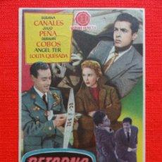 Cine: RETORNO A LA VERDAD, JULIO PEÑA, SUSANA CANALES, IMPECABLE SENCILLO 1958, CON PUBLI CINE MUNICIPAL. Lote 33232923