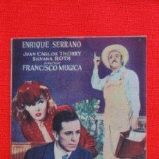 Cine: LA HIJA DEL MINISTRO, ENRIQUE SERRANO,JUAN C. THORRY SILVANA ROTH, SENCILLO ORIGINAL EXCLNTE EST, SP. Lote 33276565