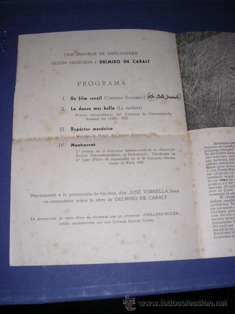 Cine: PROGRAMA CINE -CLUB UNIVERSITARIO VII SESION 5 DE JUNIO 1950 BARCELONA ,PROGR. DOBLE 22X16 CM. - Foto 2 - 33305297