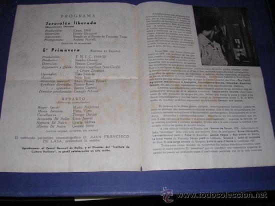 Cine: PROGRAMA CINE CLUB UNIVERSITARIO VIII SESION 23 JUNIO 1950 BARCELONA PGR. DOBLE 22,5X16 CM. - Foto 2 - 33305389