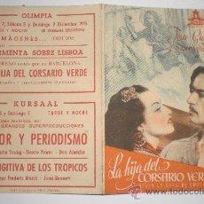 Cine: LA HIJA DEL CORSARIO VERDE. Lote 33378023