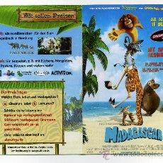 Cine: MADAGASCAR. DIBUJOS ANIMADOS.. Lote 33410816