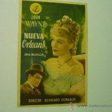 Cine: PROGRAMA CINE NUEVA ORLEANS .-JOHN WAYNE. Lote 33427998