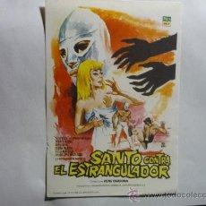 Foglietti di film di film antichi di cinema: PROGRAMA CINE SANTO CONTRA EL ESTRANGULADOR. Lote 33461242