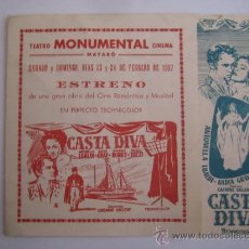 casta diva antonella lualdi - folleto de mano local doble original estreno raro