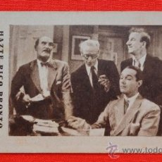 Cine: HAZTE RICO PRONTO, WILLIAM HAINES, LEILA HYAMS, TARJETA MGM AÑOS 30, EXCLTE EST , CONCURSO AÑO METRO. Lote 33558338
