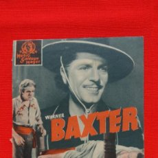 Cine: JOAQUIN MURRIETA, WARNER BAXTER, DOBLE MGM 1938, EXCELENTE ESTADO, CON PUBLI CASAL DEL POBLE-BERGA. Lote 33558930