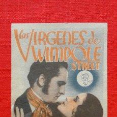 Cine: LAS VIRGENES DE WIMPOLE STREET, TARJETA MGM 1936, FREDRIC MARCH NORMA SHEARER , CP TEATRE MONUMENTAL. Lote 33559101