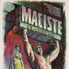 Cine: MACISTE EL COLOSO 1962 CON PROPAGANDA. Lote 36527479