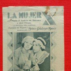 Cine: LA MUJER X, LADRÓN DE GUEVARA RAFAEL RIVELLES,TRIPTICO CONCURSO ARTISTAS MGM 1932, CON PUBLI KURSAAL. Lote 33656662