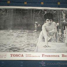 Cine: TOSCA PROGRAMA DE CINE TARJETA POSTAL ANTIGUO DE FRANCESCA BERTINI. Lote 33709031