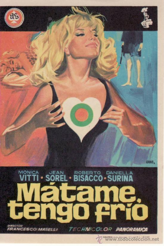 MÁTAME TENGO FRÍO - FRANCESCO MASELLI -SIN PROPAGANDA. MÁS COLECCIONISMO EN RASTRILLO PORTOBELLO (Cine - Folletos de Mano - Suspense)