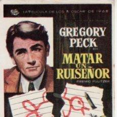 Cine: MATAR UN RUISEÑOR - GREGORY PECK -SIN PROPAGANDA. MÁS COLECCIONISMO EN RASTRILLO PORTOBELLO. Lote 33716045