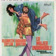 Cine: LA MUJER INDOMABLE -ELIZABETH TAYLOR, R. BURTON.SIN PROPAGANDA.COLECCIONISMO EN RASTRILLO PORTOBELLO. Lote 33717159