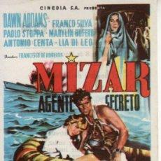 Cine: MIZAR AGENTE SECRETO - DAWN ADDAMS - CON PROPAGANDA.COLECCIONISMO EN RASTRILLO PORTOBELLO. Lote 33717193
