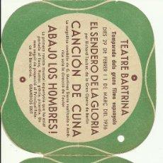 Cine: (PG-27)PROGRAMA DE CINE ABAJO LOS HOMBRES AÑO 1936 TRIPLE. Lote 153974070