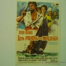 Cine: PROGRAMA CINE LOS PIRATAS DE MALASIA.-STEVE REEVES PUBLICIDAD. Lote 33777113