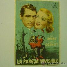 Cine: PROGRAMA CINE LA PAREJA INVISIBLE.-CARY GRANT-PUBLICIDAD. Lote 33777195