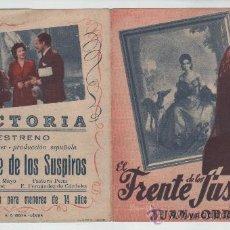 Cine: PROGRAMA DOBLE PELICULA EL FRENTE DE LOS SUSPIROS ALFREDO MAYO JUAN DE ORDUÑA. Lote 33820368