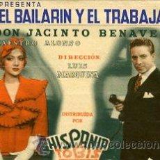 Cine: EL BAILARIN Y EL TRABAJADOR.- DOBLE GRANDE. REVERSO SALON DORÉ, DE MADRID.. Lote 33855065