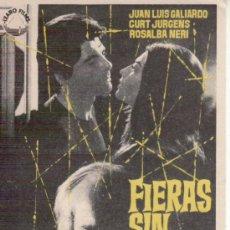 Cine: FIERAS SIN JAULA - JUAN LUIS GALIARDO - SIN PROPAGANDA. MÁS COLECCIONISMO EN RASTRILLO PORTOBELLO. Lote 33903385