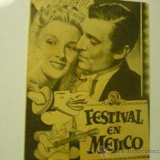 Cine: PROGRAMA CINE DOBLE FESTIVALEN MEJICO- PUBLICIDAD. Lote 33909274