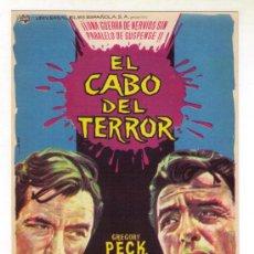 Cine: EL CABO DEL TERROR - GREGORY PECK - 1962 SIN PUBLICIDAD. Lote 33982751