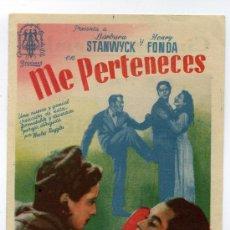 Cine: ME PERTENECES, CON HENRY FONDA.. Lote 34944290