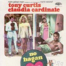 Cine: NO HAGAN OLAS-TONY CURTIS.CLAUDIA CARDINALE-MÁS COLECCIONISMO EN RASTRILLO PORTOBELLO. Lote 33997662