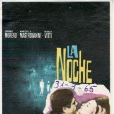 Cine: LA NOCHE-MARCELLO MASTROIANNI-MÁS COLECCIONISMO EN RASTRILLO PORTOBELLO. Lote 33998331