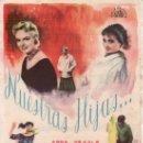 Cine: NUESTRAS HIJAS-HERBERT WILCOX-MÁS COLECCIONISMO EN RASTRILLO PORTOBELLO. Lote 34001380
