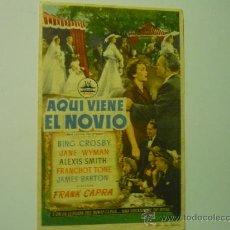 Cine: PROGRAMA CINE AQUI VIENE EL NOVIO .- BING CROSBY. Lote 34004747