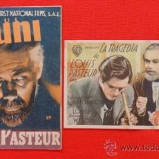 Cine: LA TRAGEDIA DE LOUIS PASTEUR, PAUL MUNI, ORIGINALES WARNER BROS, 1 DOBLE, EXCELENTE ESTADO, SP. Lote 34029859