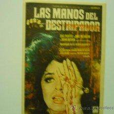 Cine: PROGRAMA CINE LAS MANOS DEL DESTRIPADOR.-TERROR. Lote 34038546