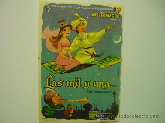 PROGRAMA CINE LAS MIL Y UNA... PUBLICIDAD (Cine - Folletos de Mano - Infantil)