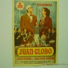 Cine: PROGRAMA CINE JUAN GLOBO -LUIS SANDRINI. Lote 34038634