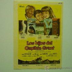 Folhetos de mão de filmes antigos de cinema: PROGRAMA CINE LOS HIJOS DEL CAPITAN GRANT-MAURICE CHEVALIER PUBLICIDAD. Lote 34038763
