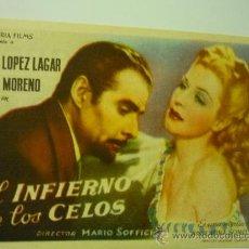Cine: PROGRAMA CINE EL INFIERNO DE LOS CELOS.-. Lote 34065976