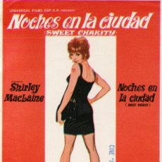 Cine: NOCHES EN LA CIUDAD-SHIRLEY MACLAINE-SWEET CHARITY--MÁS COLECCIONISMO. Lote 34096213
