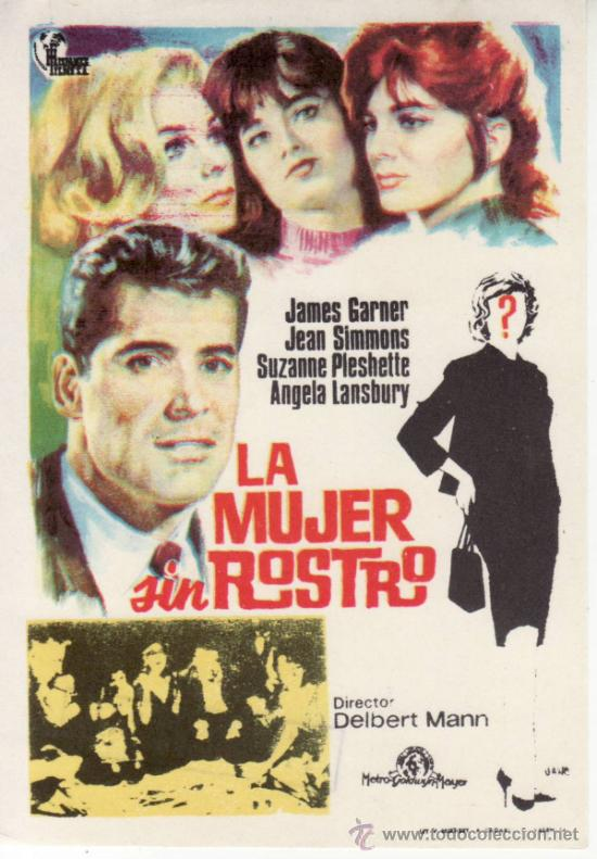 LA MUJER SIN ROSTRO-ANGELA LANSBURY- -MÁS COLECCIONISMO EN RASTRILLO PORTOBELLO (Cine - Folletos de Mano - Suspense)