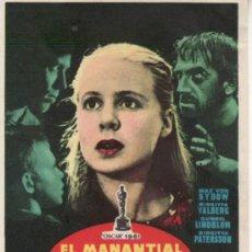 Cine: EL MANANTIAL DE LA DONCELLA-INGMAR BERGMAN-OSCAR 1961-MÁS COLECCIONISMO EN RASTRILLO PORTOBELLO. Lote 34097478