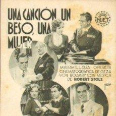 Cine: UNA CANCIÓN, UN BESO, UNA MUJER CON GUSTAV FROELICH Y MARTA EGGERTH. CA 1930. Lote 34097487