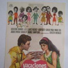 Cine: VACACIONES PARA IVETTE JOSE LUIS LOPEZ VAZQUEZ CATHERINE DIAMANT - FOLLETO MANO ORIGINAL CB FILMS. Lote 246102410
