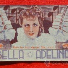 Cine: BELLA ADELINA, PROGRAMA DOBLE ORIGINAL AÑOS 30 WARNER BROS, IRENE DUNNE, SIN PUBLICIDAD. Lote 34125788