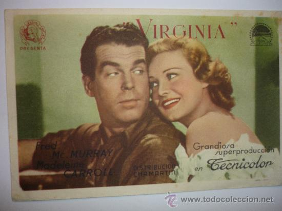 PROGRAMA CINE VIRGINIA-FRED MC MURRAY (Cine - Folletos de Mano - Comedia)